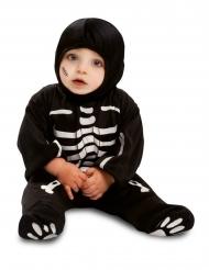 Disfraz traje esqueleto negro bebé
