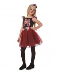 Disfraz señorita esqueleto niña