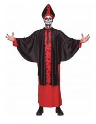 Disfraz obispo esqueleto adulto