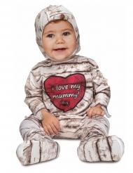Disfraz momia corazón bebé