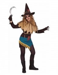 Disfraz espantapájaros mujer