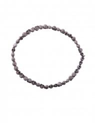 Collar calaveras grises 54 cm adulto