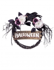 Corona de puerta pancarta Halloween 34 cm