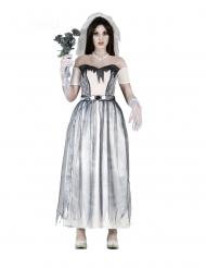 Disfraz de novia fantasmagórica mujer