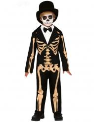 Disfraz esqueleto elegante niño