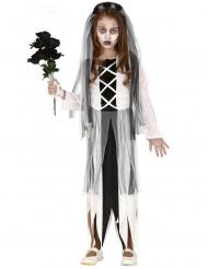 Disfraz novia zombie niña