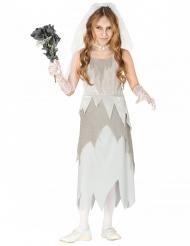 Disfraz de novia fantasma gris niña