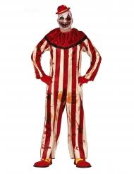 Disfraz payaso maléfico rojo y blanco hombre