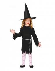 Disfraz bruja con sombrero niña