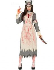Disfraz enfermera retro zombie mujer