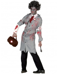 Disfraz doctor retro zombie hombre