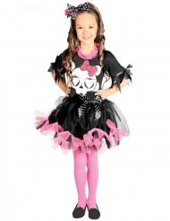 Disfraz tutú negro y rosa esqueleto lindo niña