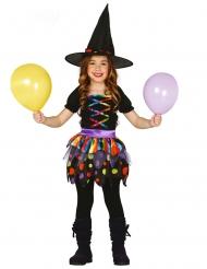 Disfraz brujita linda de colores niña