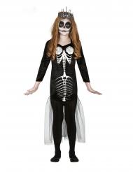 Disfraz esqueleto sirena niña