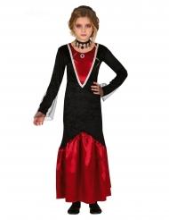 Disfraz vampiro rojo y negro niña