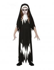 Disfraz de zombie monja niña