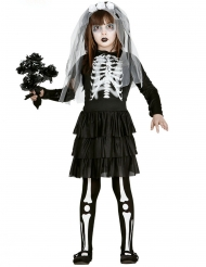 Disfraz novia esqueleto para niña