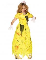 Disfraz princesa zombie amarillo niña