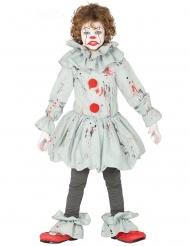 Disfraz payaso asesino gris niño