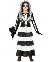 Disfraz novia joven esqueleto niña