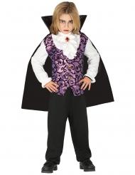 Disfraz joven vampiro morado y negro niño