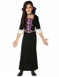 Disfraz vampiro morado y negro niña