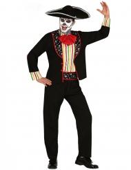 Disfraz mariachi Día de los muertos hombre