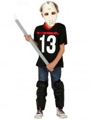 Disfraz asesino con máscara de hockey niño