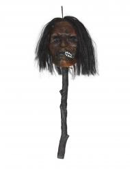 Bastón cabeza empalada luminosa 53 cm
