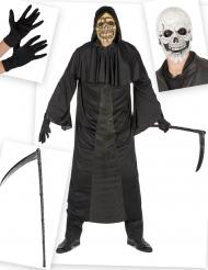 Kit disfraz y accesorios de segador hombre