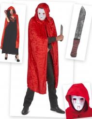 Kit disfraz de asesino ensangrentado adulto