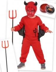 Kit disfraz diablín rojo niño