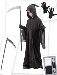 Kit disfraz y accesorios segador niño