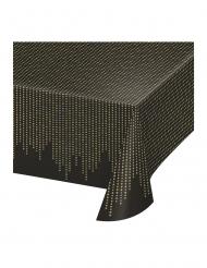 Mantel de plástico años 20 negro y dorado 137 x 259 cm