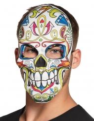 Máscara Día de los muertos blanca