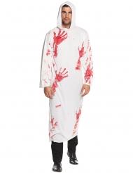 Disfraz túnica con capucha ensangrentada adulto