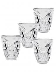 4 Vasos de chupitos calavera 50 ml