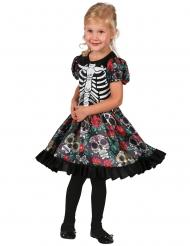Disfraz de muerto de colores niña