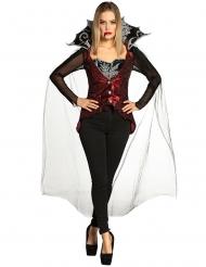 Disfraz conjunto pantalón vampiresa mujer