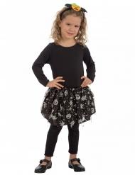Tutú negro y plateado Halloween niña