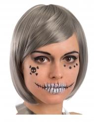 Decoraciones pegatinas de esqueleto para rostro adulto