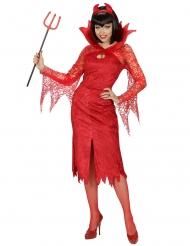 Disfraz diablesa rojo mujer
