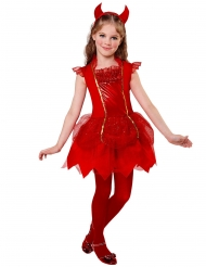 Disfraz diablesa roja niña