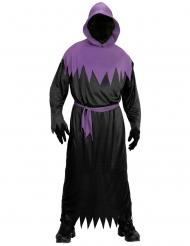 Disfraz segador negro y morado adulto