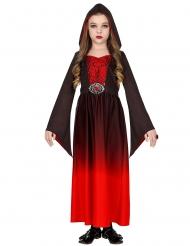 Disfraz vampiro feroz rojo niña