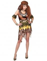 Disfraz líder vudú leopardo mujer