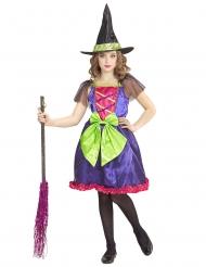 Disfraz bruja multicolor niño