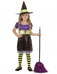 Disfraz bruja negro amarillo violeta niña