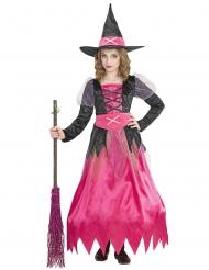Disfraz bruja bellísima rosa niña