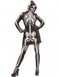 Disfraz esqueleto radiografía mujer